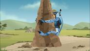 Cheetah Martin and Termite Mound