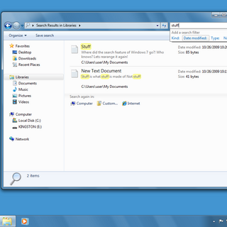 Windows 7 Search