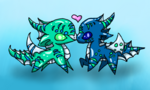 Chibi tsunami and riptide by chimmychinga-d5rflb5