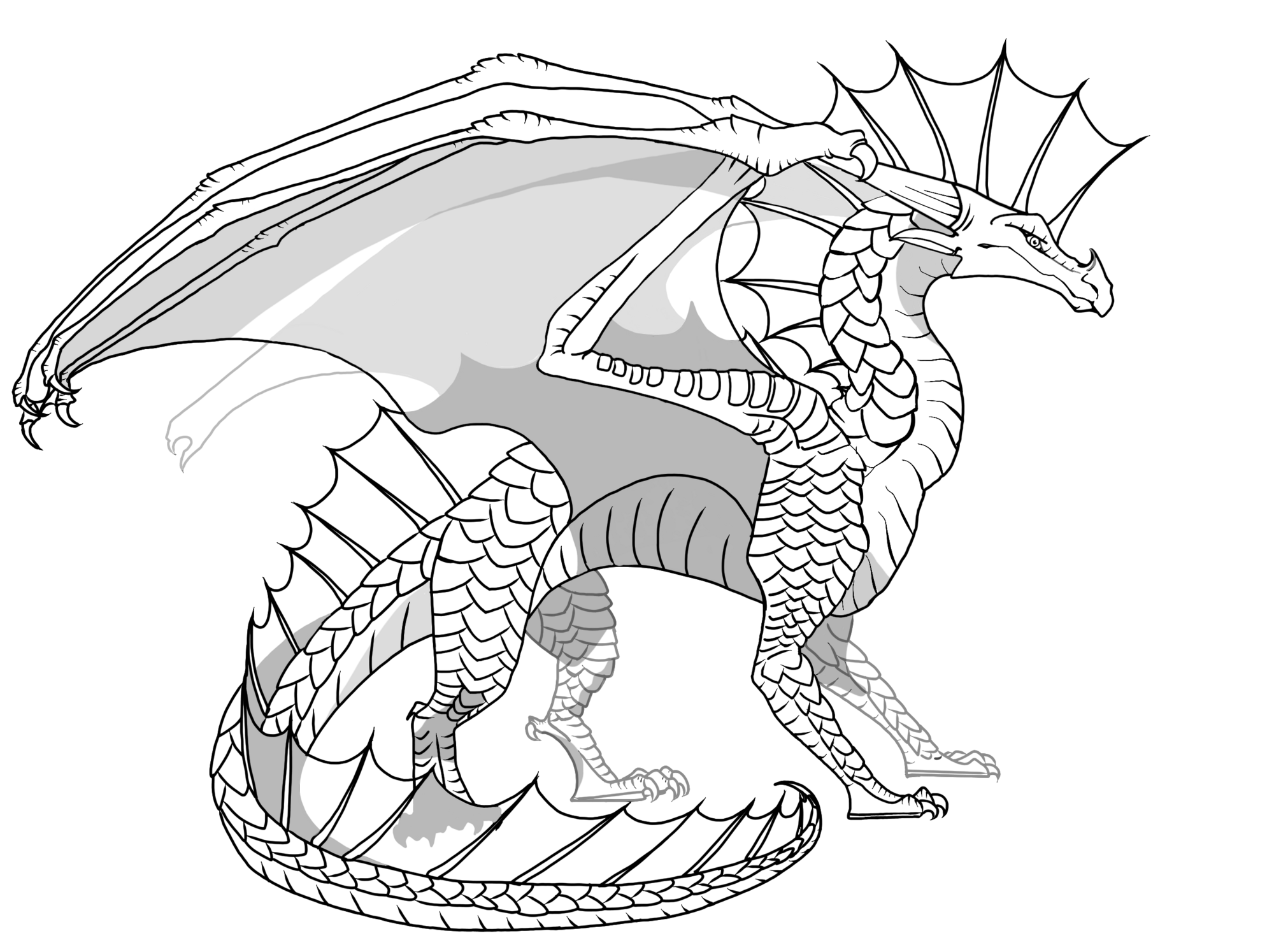 Image flamewing wings of fire fanon wiki for Wings of fire coloring page