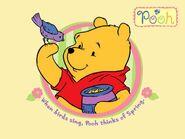 Pooh Wallpaper - When Birds Sing