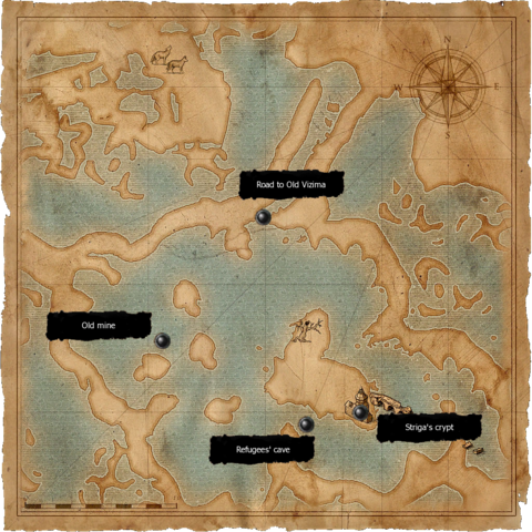 Map of all 3 ancient crypts