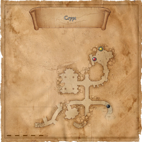 Map of the crypt in the sewers