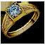 Tw3 gold diamond ring