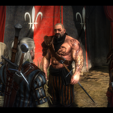 The Crinfrid Reavers in The Witcher 2, Desbrut is on the far right