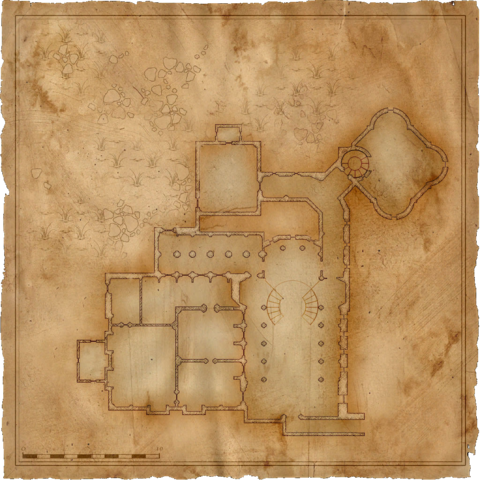 Map of King Foltest's Castle