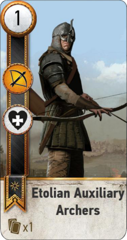 File:Tw3 gwent card face Etolian Auxiliary Archers 1.png