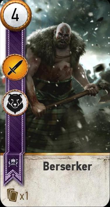 Berserker (gwent card)...