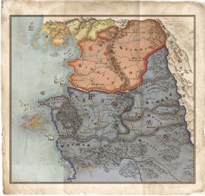 The Witcher 3 Map of North