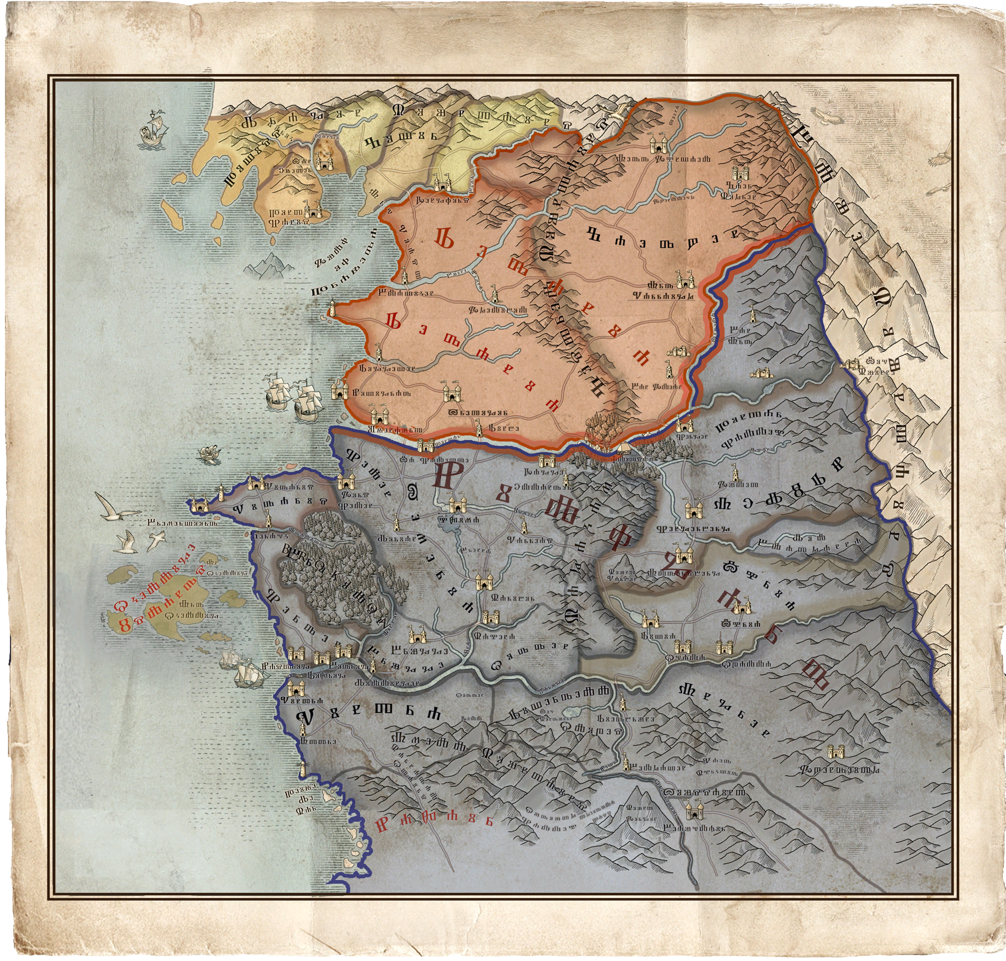 Witcher World Map ~ AFP CV
