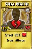 Steal Health Treasure Card