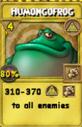 Humongofrog Treasure Card