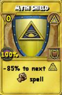 Myth Shield Treasure Card