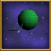 Ball of Green Yarn