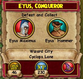 Eyus, Conqueror