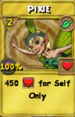 Pixie Treasure Card