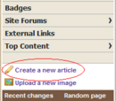 Creating New Pages