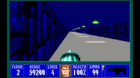 Wolfenstein 3D (id Software) (1992) Episode 4 - A Dark Secret - Floor 2 HD