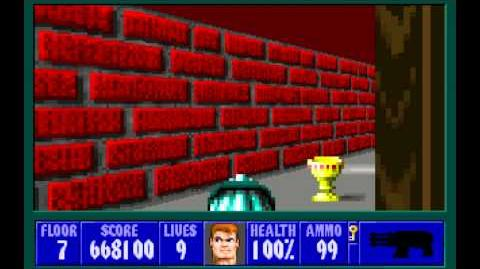 Wolfenstein 3D (id Software) (1992) Episode 4 - A Dark Secret - Floor 7 HD