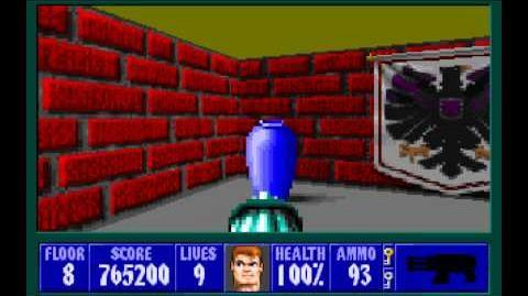 Wolfenstein 3D (id Software) (1992) Episode 4 - A Dark Secret - Floor 8 HD
