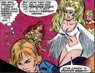 Silver Swan, Cheetah, Captain Wonder and Etta Candy