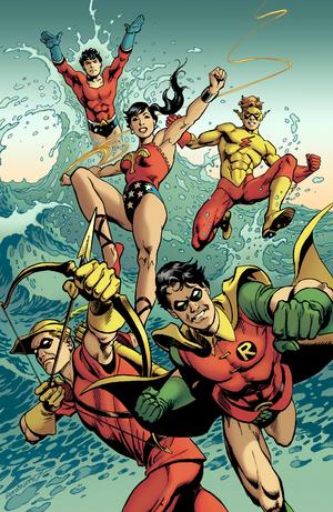 Teen Titans Jose Luis Garcia-Lopez and Trish Mulvihill