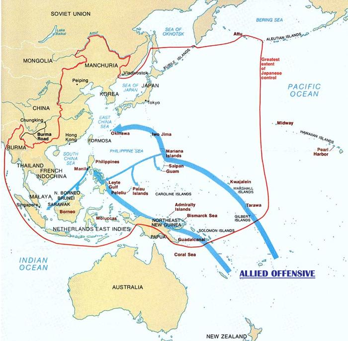 Island Hopping Map World War