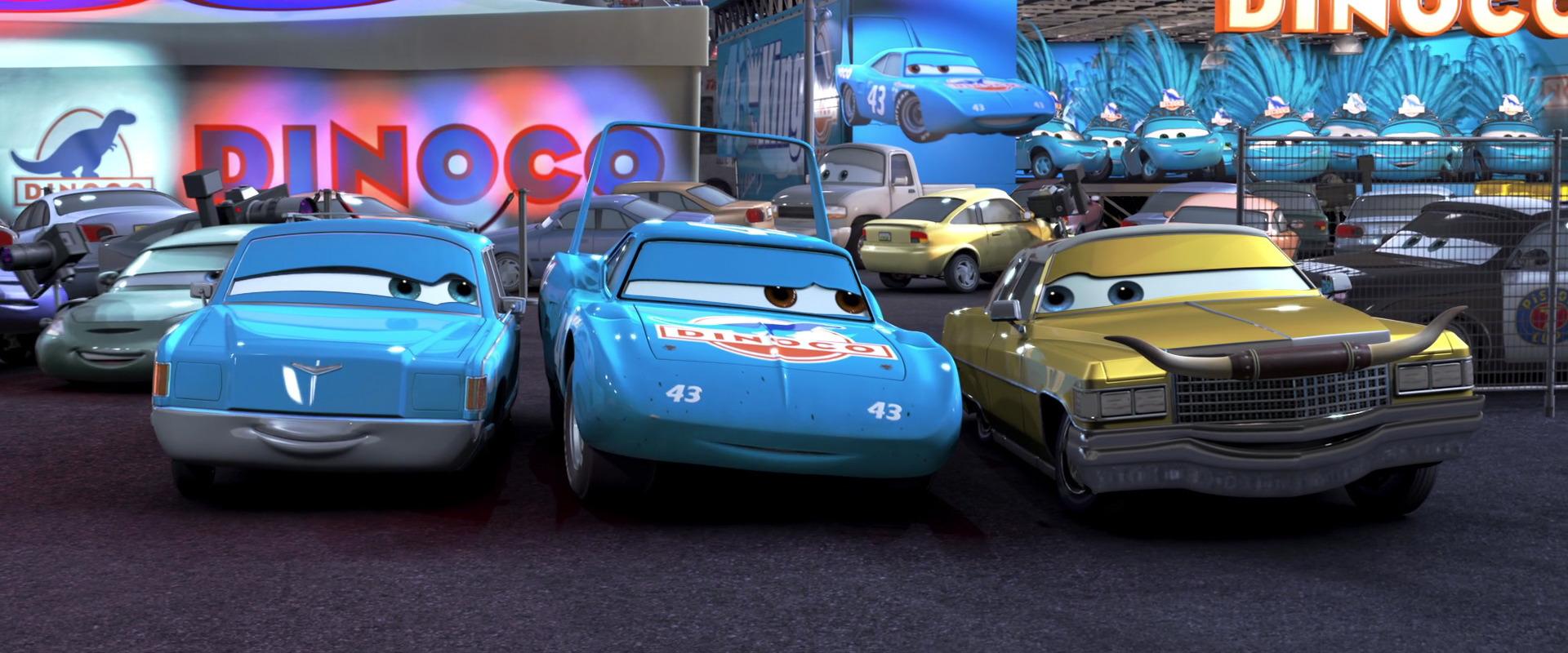 Disney Pixar Cars Pickup Version Lightning McQueen With Headset And Scarce Version Dinoco Pickup