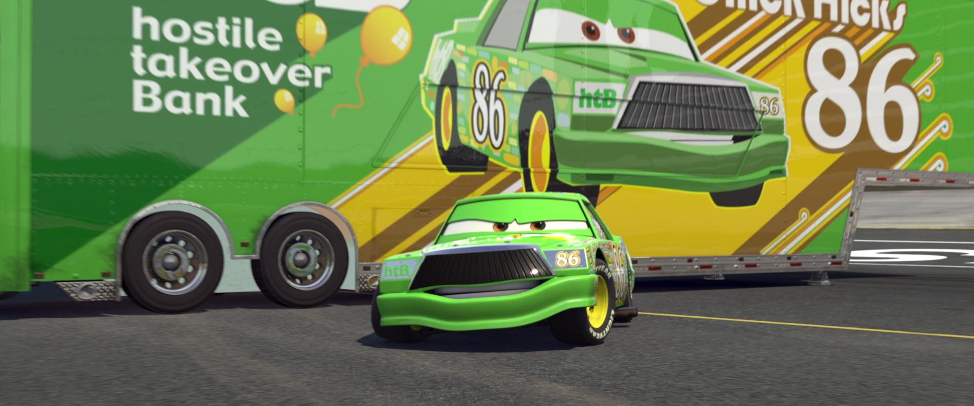 Talk chick hicks hauler world of cars wiki fandom
