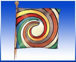 Aes Sedai flag ajah-blue