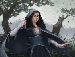 Moiraine painting