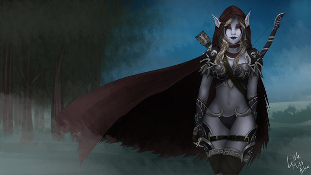 Datei:Wow sylvanas windrunner by littlemissaiko.png