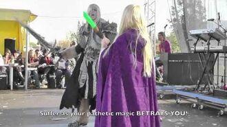 Warcraft III Cosplay Arthas vs Jaina (Lucca 2011 - ITA ENG subs)
