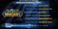 BlizzCon 2013/WoW Art panel