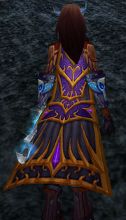 Drape of the Violet Tower, Stone Background, Draenei Female
