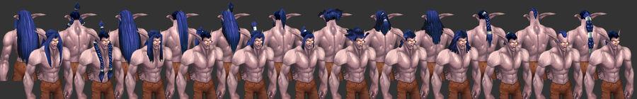NightElf Male Hairstyles