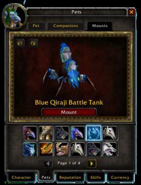 Pets tab-Mounts