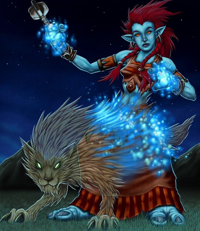 Image Gallery wolf shaman