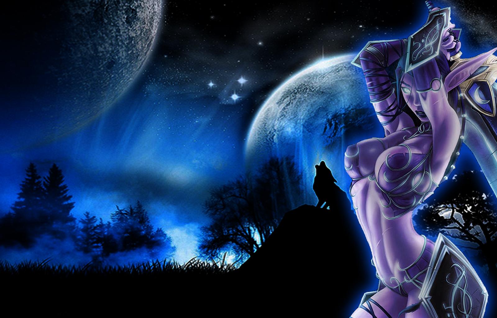 Wow human and night elf naked comics