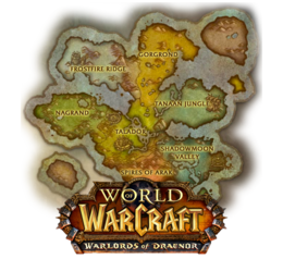 New Draenor map with Warlords logo