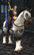 Genn Greymane on horseback in Gilneas City