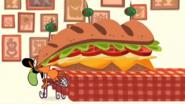 S1e11b Wander eating huge sandwich 2