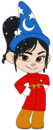 Vanellope as the Sorcerer's Apprentice with Hat