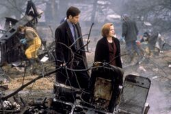 Tempus Fugit Crash Site Mulder Scully
