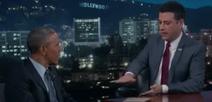 Jimmy Kimmel and Barack Obama