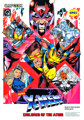 File:X-Men Children of the Atom (arcade game) Flyer.png