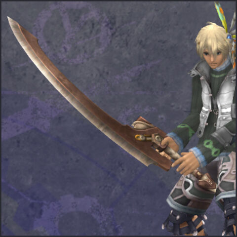 Shulk with Junk Sword as seen in-game