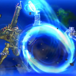 Metal Face Solo Attack in <i>Project X Zone 2</i>