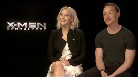 X-MEN APOCALYPSE interviews - Jennifer Lawrence, McAvoy, Sophie Turner, Evan Peters, Munn