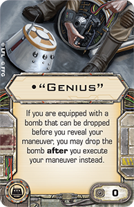 Quot Genius Quot X Wing Miniatures Wiki Fandom Powered By Wikia